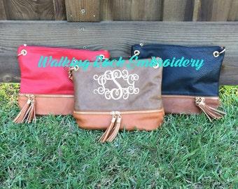 Monogrammed Crossbody Bag, Monogram Purse Bag Tote, Bridesmaid Gift, Monogrammed Purse