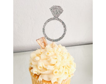 Engagement Ring Cupcake Toppers, engagement party, bride to be, bridal shower
