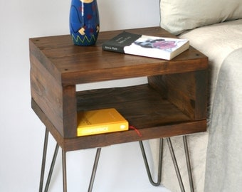 Blackhorse Bedside Table | Side Table | Small Table | Nightstands | Dark Oak | Reclaimed Wood | Bedroom Furniture | Home