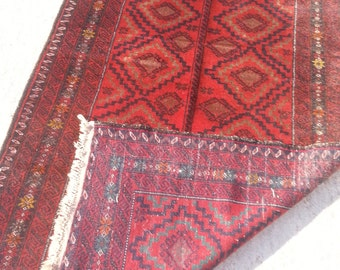 Size:7 ft by 3.10 ft Handmade Rug Vintage Tribal Afghan Faded Baluch Taimani Carpet