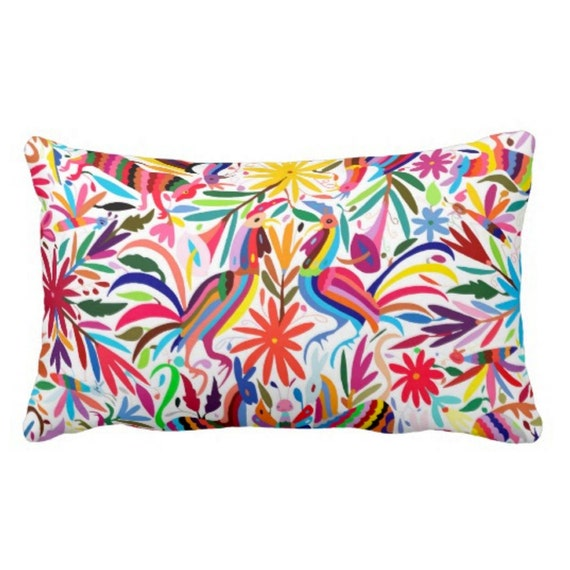 Throw Pillows Bright Colors : Colorful Otomi Throw Pillow Cover Bright by PatternBehavior