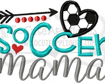 Embroidery design 5x7 6x10 Soccer mama, Soccer mom, soccer sis Embroidery sayings, socuteappliques, soccer embroidery, soccer applique