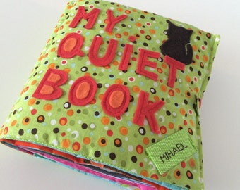 Quiet Book for Toddlers, Boy Themed, Made to order