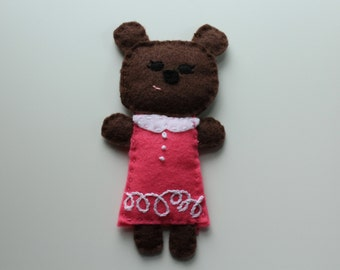 Felt Brown Bear Plushie