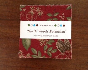 Moda North Woods Botanical charm square pack