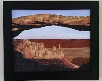 Original Oil Painting, Mesa Arch, Utah