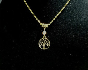 Tree Of Life Necklace Gold Tone