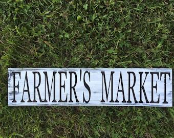 Farmer's Market Wood Sign