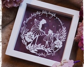 Mother & Daughter - Mothers Day Papercut