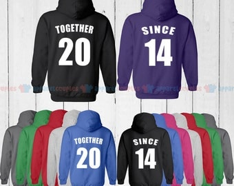 TOGETHER SINCE 2014  - Matching Couple Shirts - His and Her T-Shirts - Love Tees