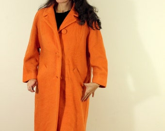 Reserved for Danielle - Fantastic Vintage 1950s Orange LILLI ANN Coat