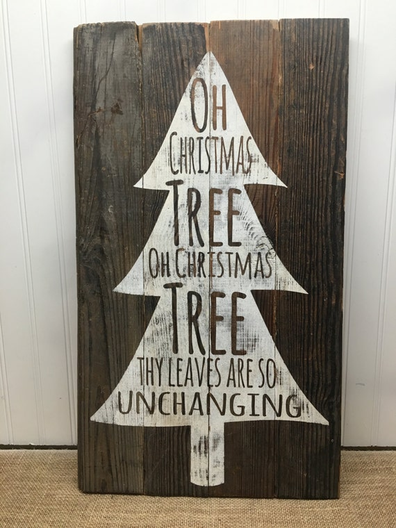 Christmas Tree Quote Reclaimed Wood Pallet Sign Home Decor