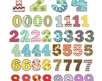Chunky Numbers Aplique 3in and 4in