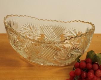 Pressed Glass Display Vase