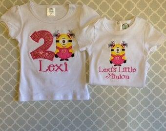 Sibling Minion Shirts