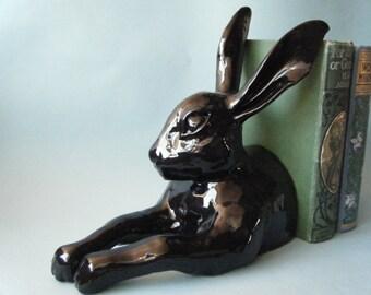 Ceramic Hare sculpture Single Bookend