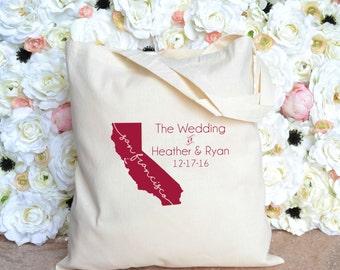 San Francisco, California Destination Wedding Welcome Tote