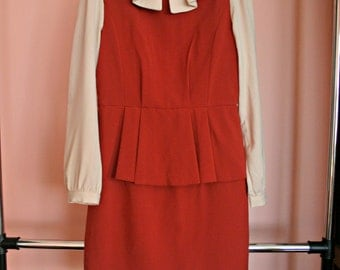 Vintage 1960's Inspired Dress with Peplum