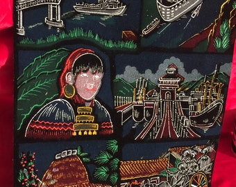 Gorgeous Long Scroll Type Tapestry of Panama