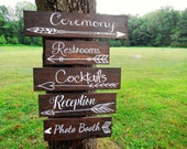 One Wedding Directional Sign- Wedding Arrow Sign- Rustic Wedding Sign- Woodland Wedding Sign - Boho Wedding Sign - Bohemian Wedding
