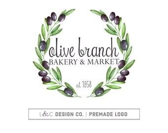 Premade Logo Design - Olive Branch Logo - Photography Logo - Boutique Logo - Small Business Logo