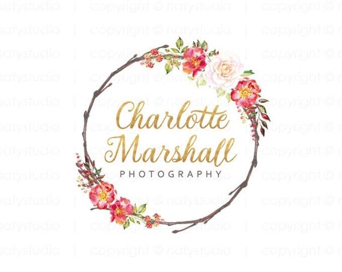 Wreath Logo Design Products  Creative Market