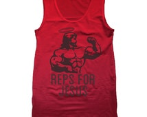 Reps Jesus Working Out Work Out Mma Lifting Gym Tank Top DB0021