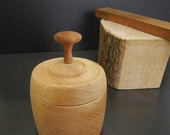Turned oak box