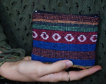 Hippie Coin Purse Patterned Fabric