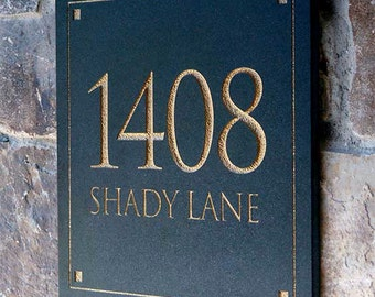 Solid Stone Address Plaques