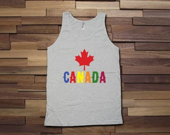 Canada Day Pride Tank top - Canada day tank tops for women, men, kids, canada day, canadian clothes, canadian pride, gay pride, ally -CT-083