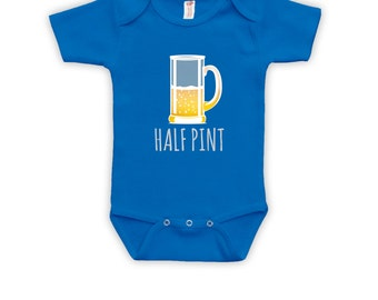 Half Pint - Matching Father and Baby Shirt, Fathers Day, Dad Shirt, Baby Bodysuit, Christmas Shirt, Bodysuit CT-372