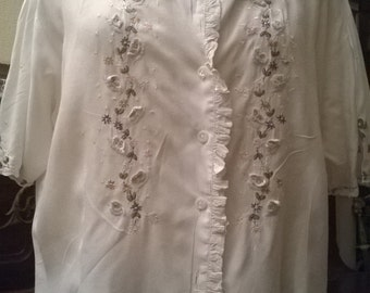 Shirt vintage embroidered cotton