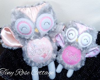 Personalized baby gifts owl etsy personalized owl baby shower gift birthday gift stuffed animal monogrammed owl negle Choice Image