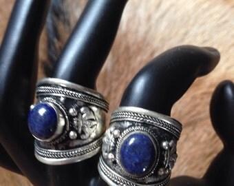Lapis lazuli thumb rings