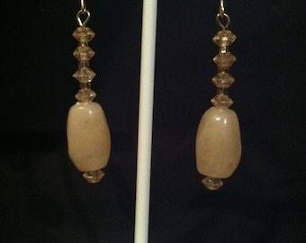Cream color Beaded Earrings