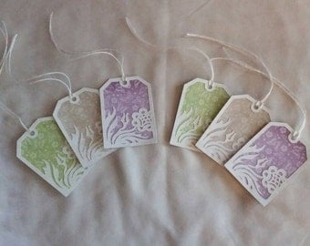6 Floral Damask Gift Tags, Birthday, For you,