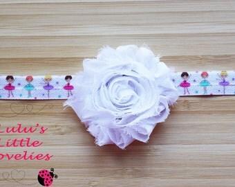 Ballerina Headband, Dance Headband, Birthday Party Headband, Gift for girl, Ballerina FOE, Dance Party, Dance Team, Dance Team Hair