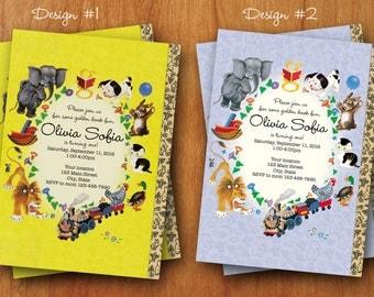 Little Golden Book inspired Birthday invitation