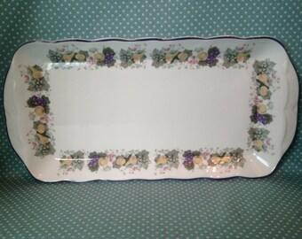 Vintage Royal Doulton China Ravenna pattern serving platter. The Majestic Collection. - FREE UK POST -