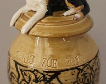 Pet Funerary Urn - Custom made and personalized