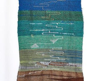 LARGE Handwoven Wall Hanging, Saori Inspired, (DRASTICALLY REDUCED to sell!!!)