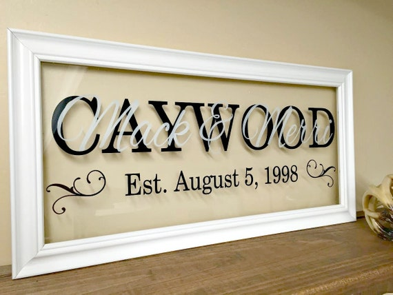 Personalised Wedding Gift For Wife : Personalized Couple Gifts Personalized Wedding Gifts Last Name Sign ...