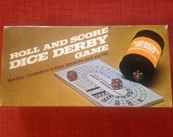 Roll and Score Dice Derby Game Nearly New 1977 Milton Bradley