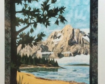TETON MOUNTAINS Landscape Art Quilt Pattern by (Cynthia) England Design Studios