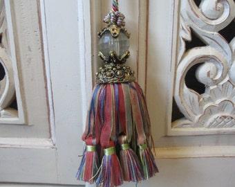 Ornate Tassel Large Crystal Gold Curtain Tie Back  Embellishment Elegant Supplies Home Decor #616