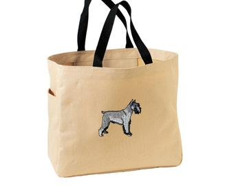 Schnauzer Tote Bag. Embroidered Schnauzer Tote. Cute Dog Pet Tote Bag. Schnauzer Handbag. Schnauzer Purse. SM-B0750