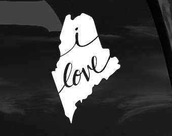 Maine Vinyl Decal Sticker - ME, Maine Decal for Car, Maine Sticker for Computer, Maine Window Sticker, Maine Phone Decal