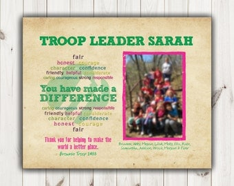 Girl Scout Troop Leader Thank You_8 X 10 Digital File or Print