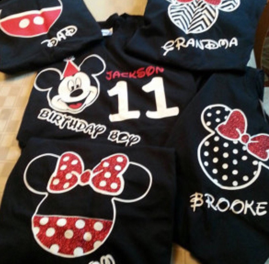 Personalized Disney Birthday Shirts